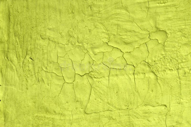 Skadlig gul idérik buse måla textur - gullig abstrakt fotobakgrund royaltyfri bild
