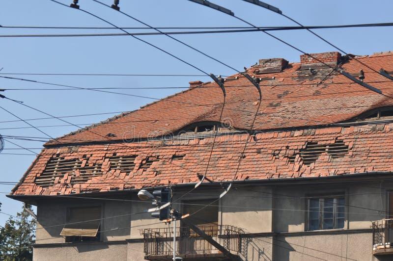 skadlig tak fotografering för bildbyråer