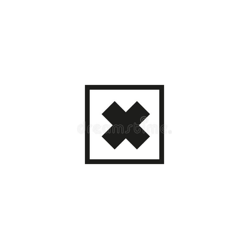 Skadligt produktsymbol på vit bakgrund royaltyfri illustrationer