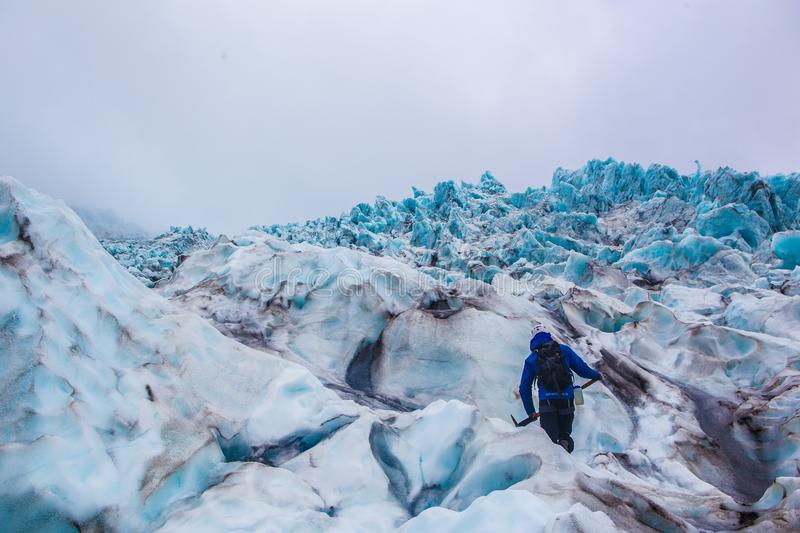 Glacier in Skaftafell, Iceland. royalty free stock image