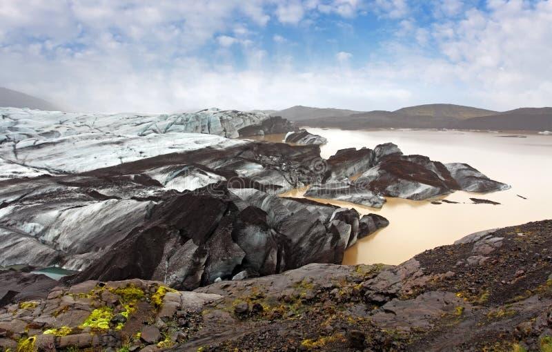 Skaftafellsjokull, parque nacional de Skaftafell, Islândia sul foto de stock royalty free
