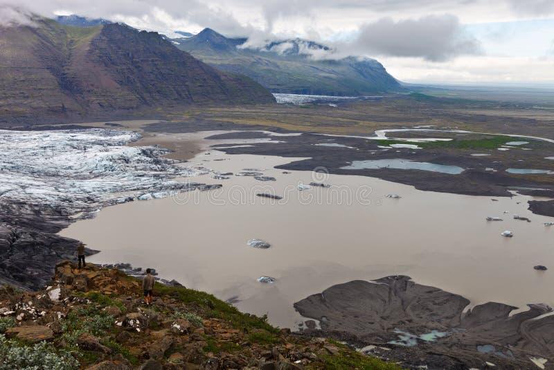 Skaftafellsjokull, parque nacional de Skaftafell, Islândia sul fotos de stock