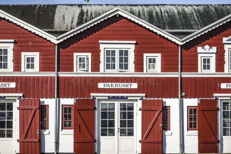 Skagen, Δανία, στις 31 Ιουλίου 2017: Χαρακτηριστικό Σκανδιναβικό architectur στοκ εικόνες