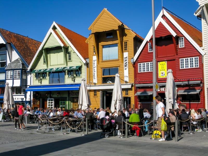 Skagenkaien i Stavanger, Norge arkivbild