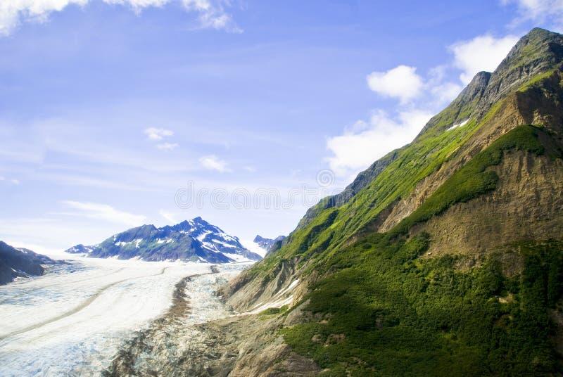 skagway阿拉斯加的冰川 免版税库存照片