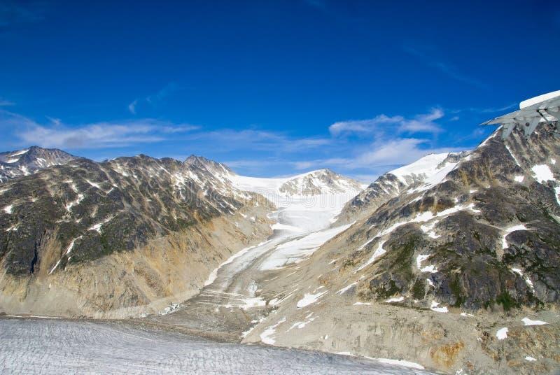 skagway阿拉斯加的冰川 库存图片