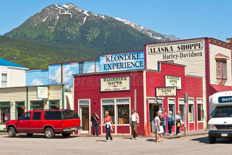 Skagway, Αλάσκα στοκ εικόνες