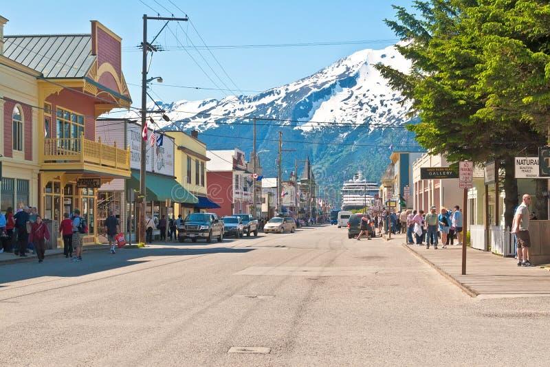 Skagway, Аляска стоковые изображения