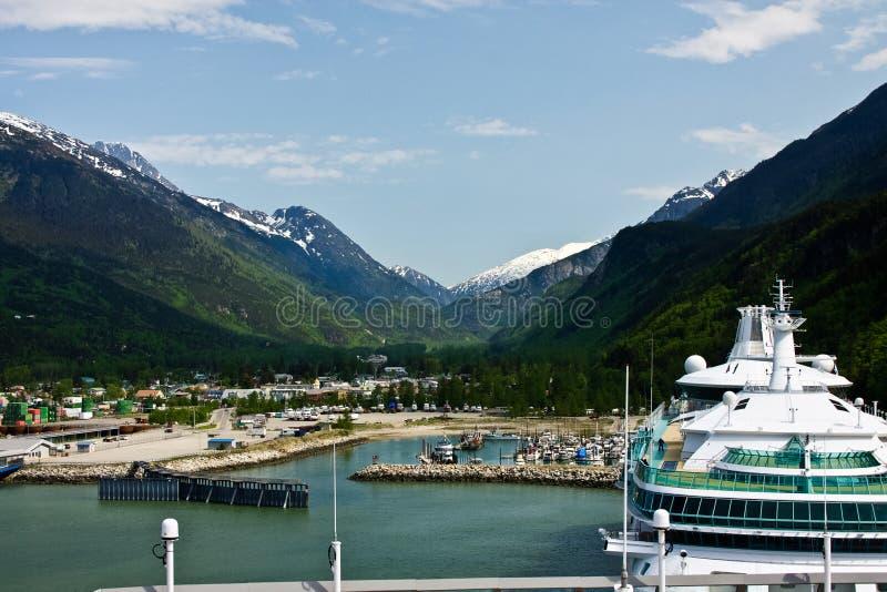 Skagway, Alaska stock afbeeldingen