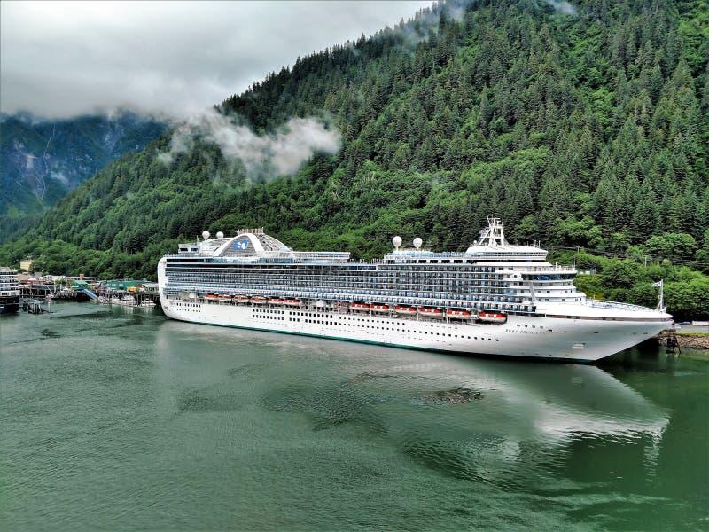 Skagway Alaska em junho, cidade do norte dos EUA perto de Canadá imagens de stock royalty free