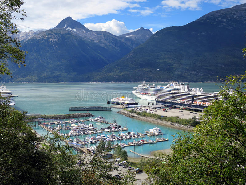 Skagway Alaska stock photo