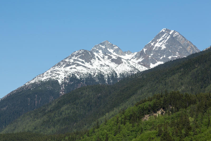 Skagway's Craggy Mountains royalty free stock image