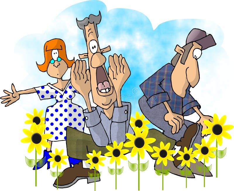 skakać wiosny ilustracja wektor