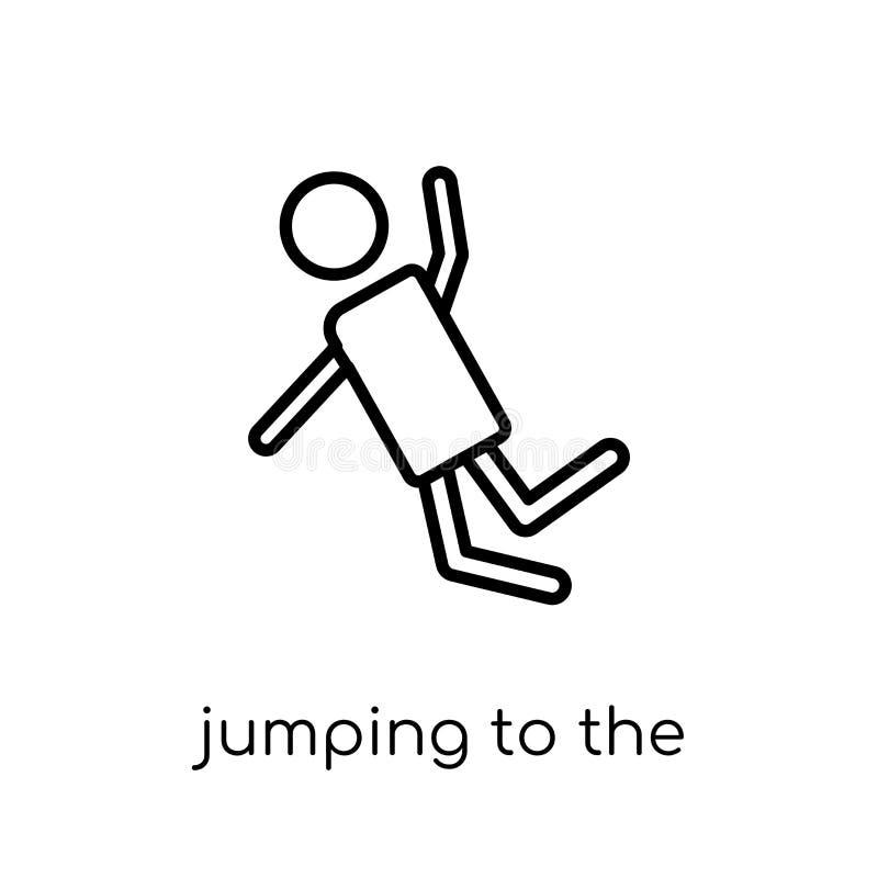 Skakać wodna ikona Modny nowożytny płaski liniowy wektorowy skok ilustracja wektor