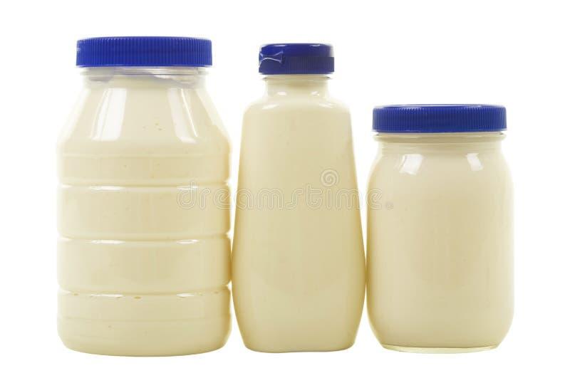 skakar mayonnaise tre royaltyfri fotografi