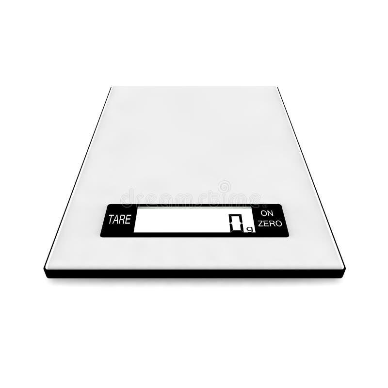 Skal för elektroniska köksartiklar visar noll gram stock illustrationer