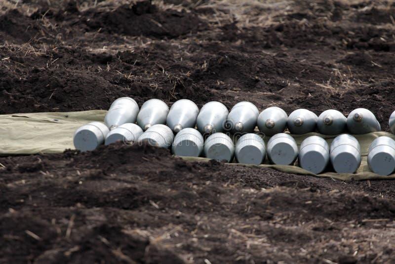 Skal för stor-kaliber artilleri royaltyfri bild
