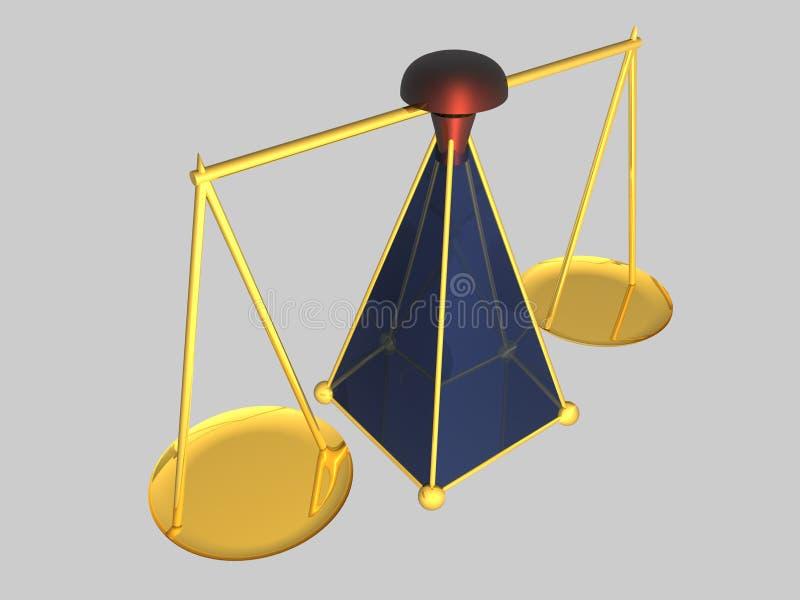Skala - 3D vektor abbildung