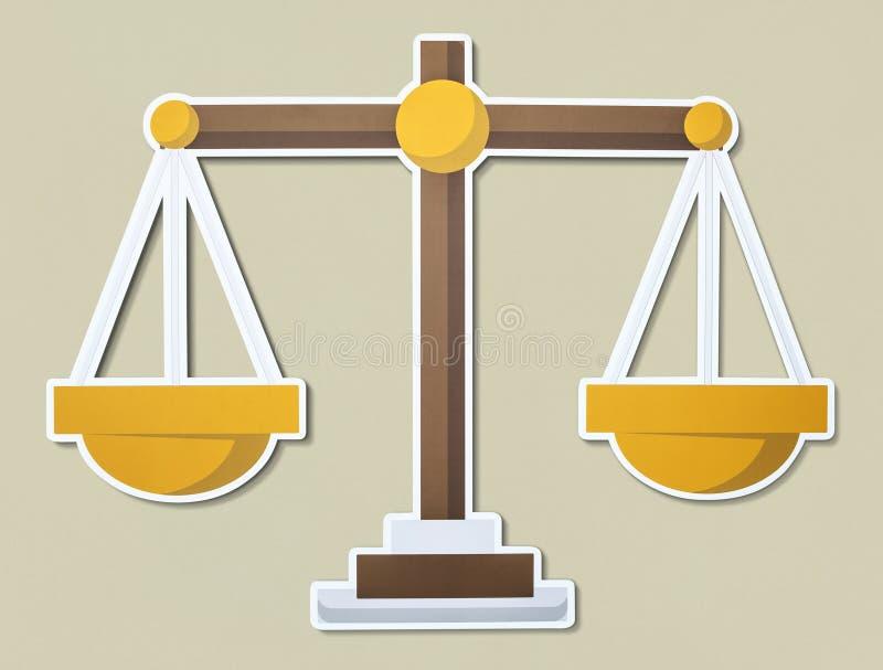 Skala av rättvisaillustrationsymbolen royaltyfri foto