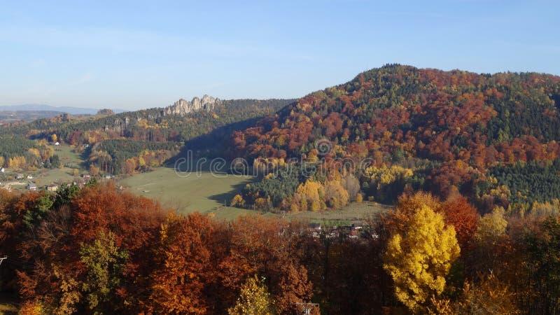 Skala de Mala, paraíso boêmio, república checa imagens de stock royalty free