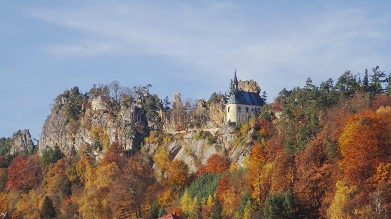 Skala de Mala, paraíso boêmio, república checa foto de stock