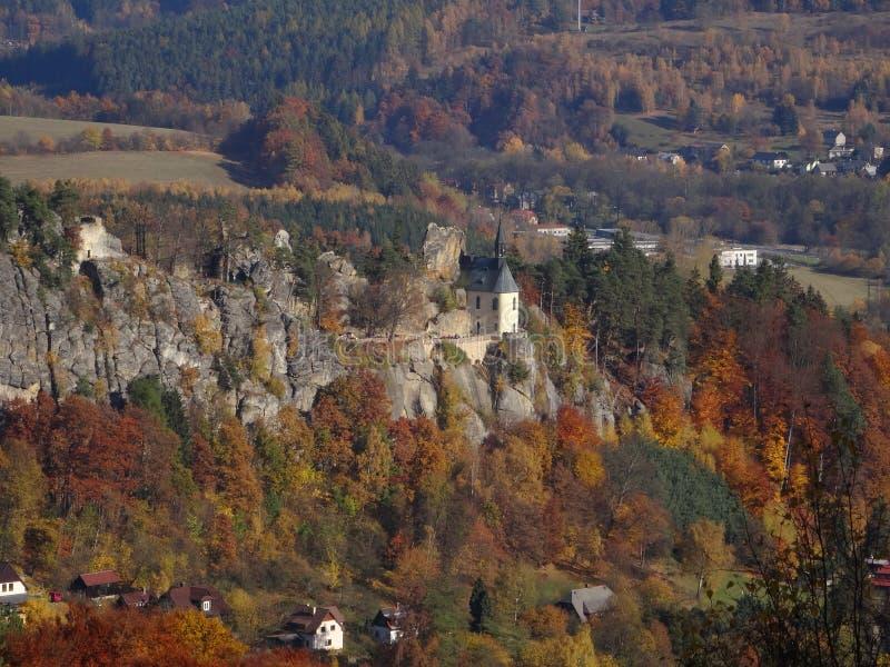 Skala de Mala, paraíso boêmio, república checa imagem de stock