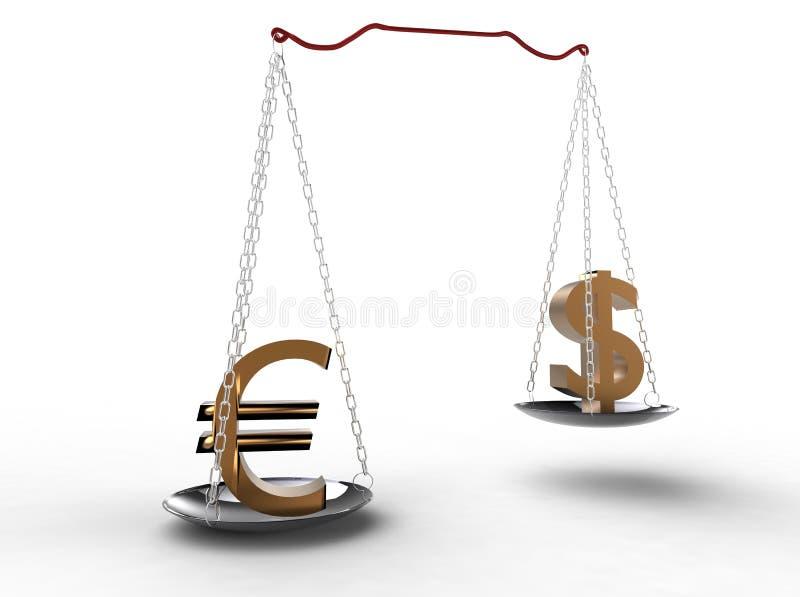 Skala des Geldes stock abbildung