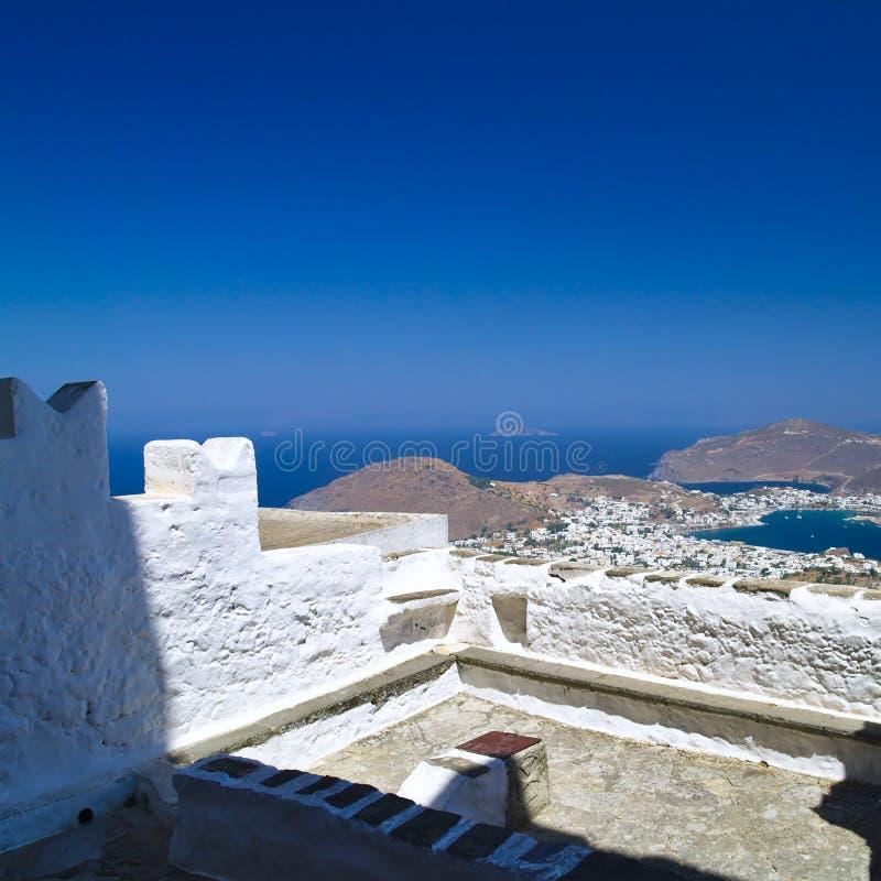Skala-Dorf in Patmos-Insel, Griechenland stockfoto