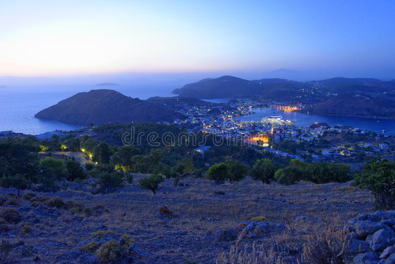 Skala-Hafen auf Patmos-Insel lizenzfreie stockfotos
