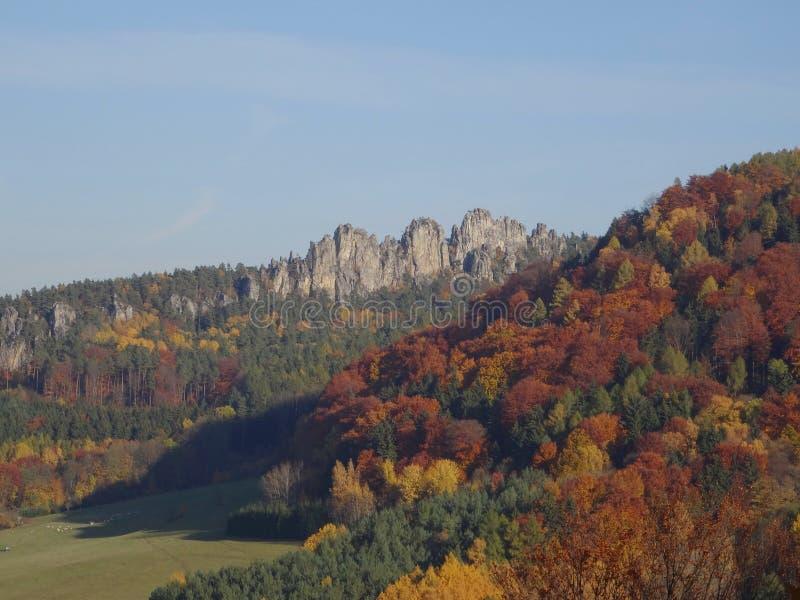 Skala Mala, Βοημίας παράδεισος, Τσεχία στοκ εικόνες