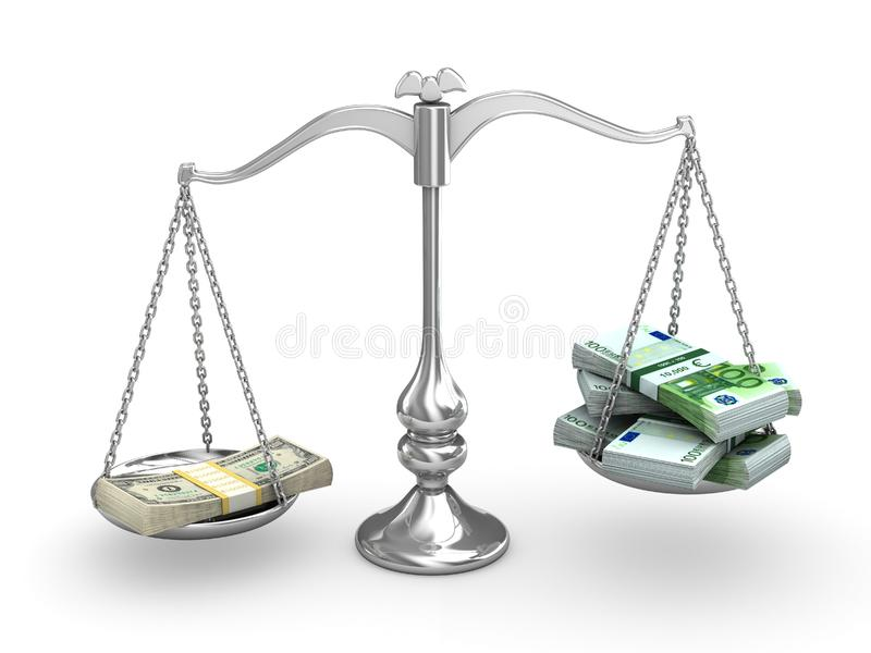 Skala-balance Stockfotos