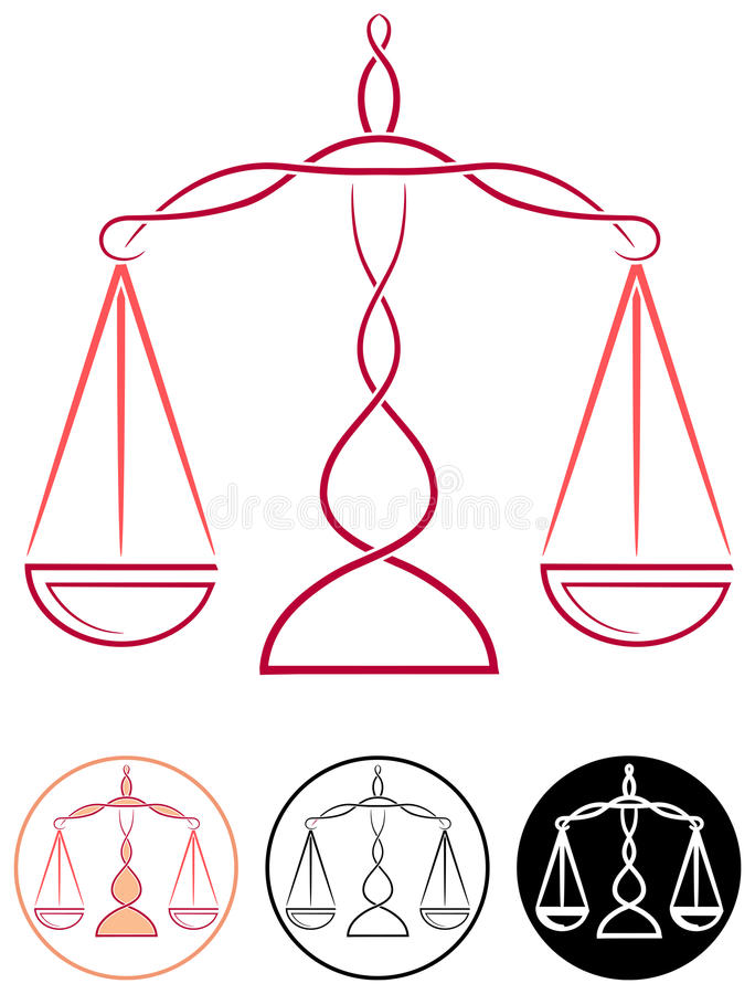 Skala sprawiedliwość royalty ilustracja