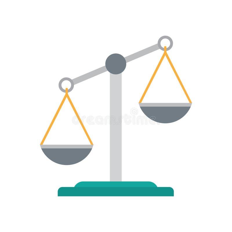 Skala sprawiedliwości ikona royalty ilustracja
