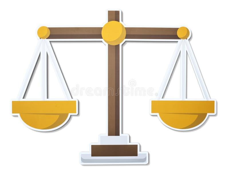 Skala sprawiedliwości ilustraci ikona royalty ilustracja