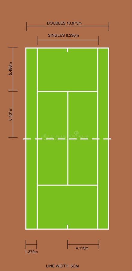 Skala-Tennis-Gericht stock abbildung