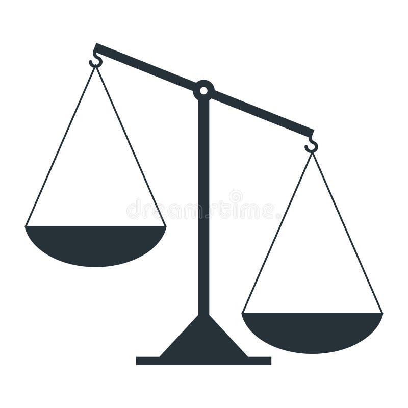 Skala von Gerechtigkeit lizenzfreie abbildung