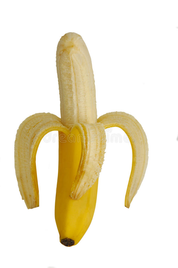 skalad banan arkivbilder