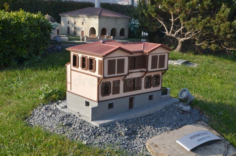 Skalamodell av det Ataturk huset royaltyfri fotografi