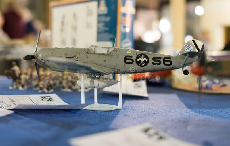 Skalamodell av Messerschmitt Bf 109 fotografering för bildbyråer