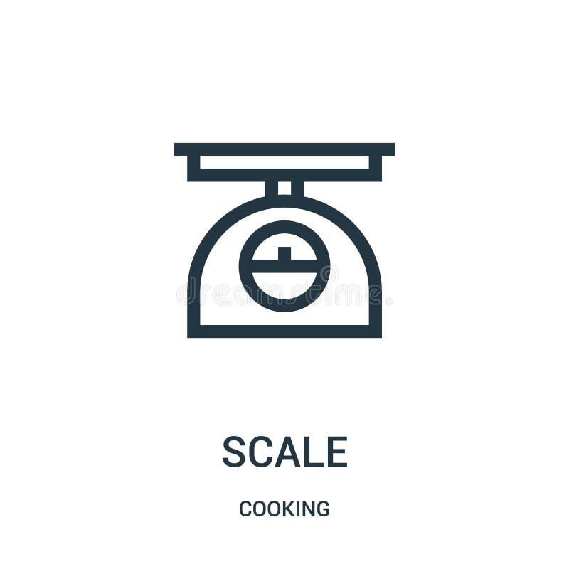 skalasymbolsvektor från att laga mat samlingen Tunn linje illustration f?r vektor f?r skala?versiktssymbol Linj?rt symbol royaltyfri illustrationer