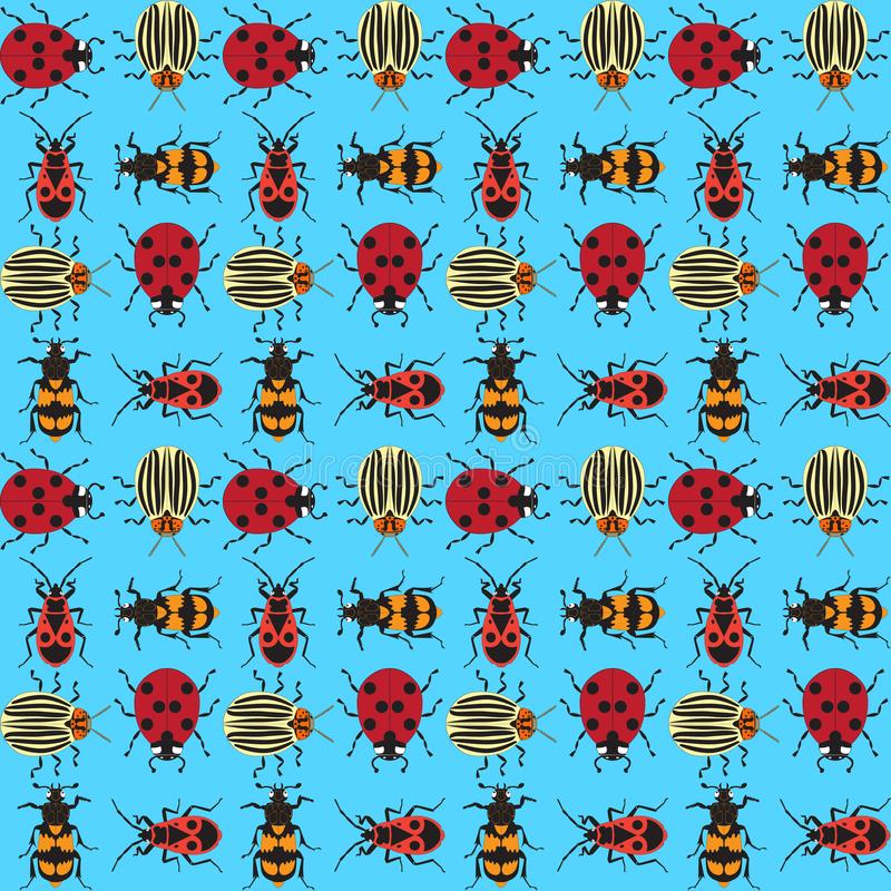Skalbaggar background_6 royaltyfri illustrationer