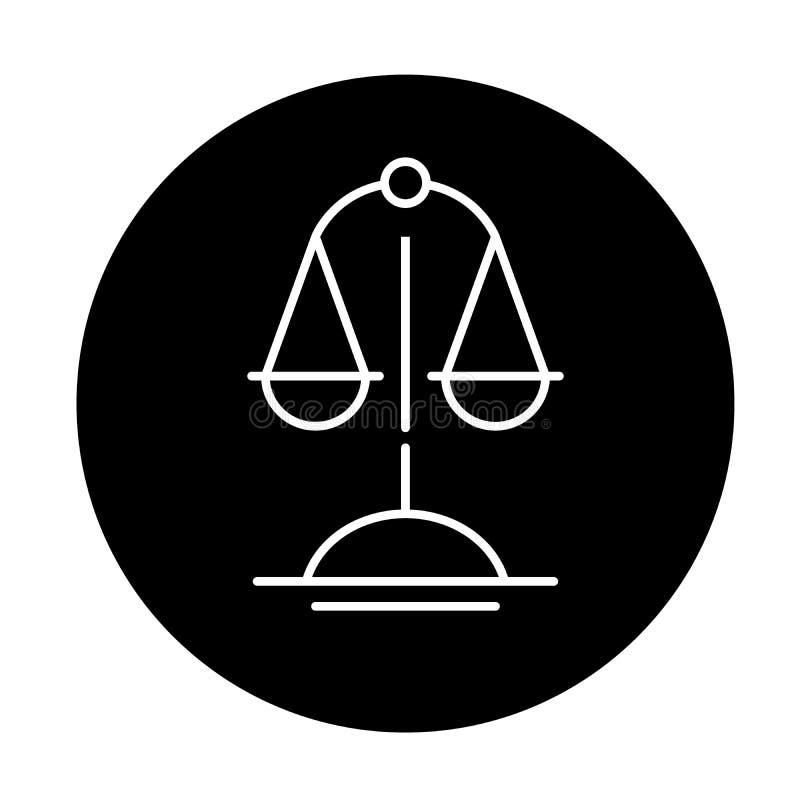 Skale prawda czernią ikonę, wektoru znak na odosobnionym tle Skale prawdy pojęcia symbol, ilustracja royalty ilustracja