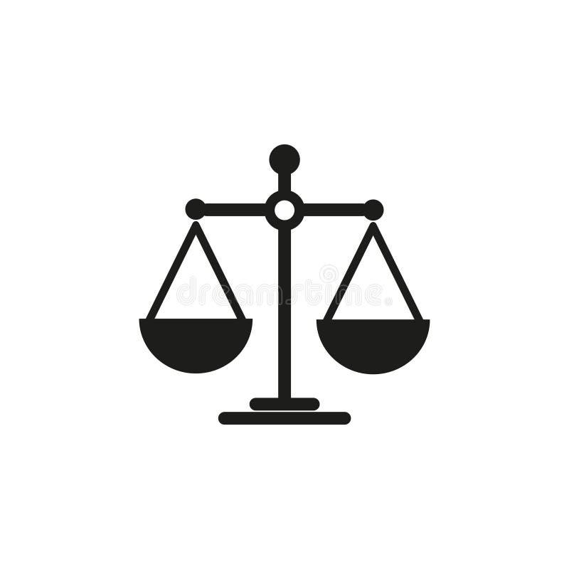 Skalen der Balancenikone stock abbildung