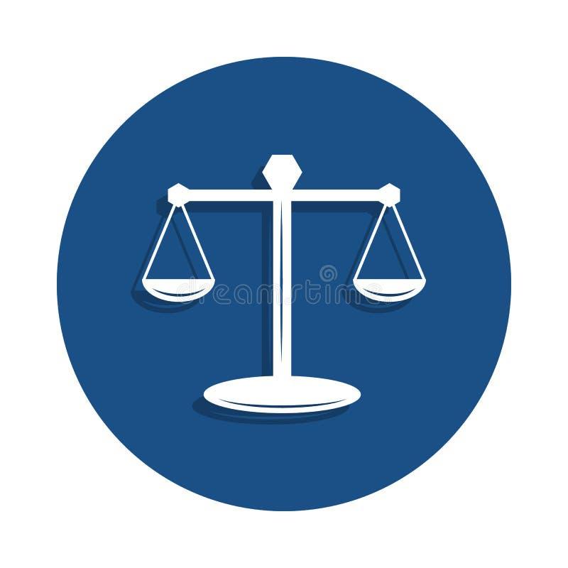 Skalen der Gesetzesikone in der Ausweisart Ein der Polizeisammlungsikone kann für UI, UX verwendet werden lizenzfreie abbildung