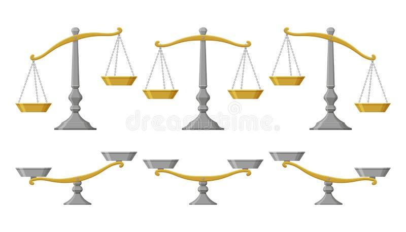 Skalen eingestellt mit verschiedenen Balancen lizenzfreie abbildung