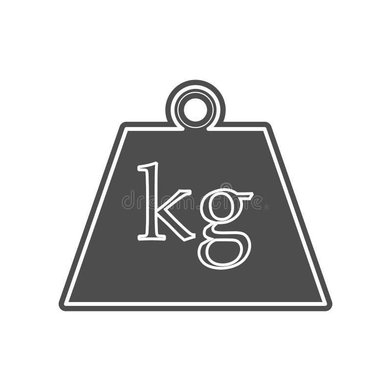 Skalen f?r Kofferikone Element von minimalistic f?r bewegliches Konzept und Netz Appsikone Glyph, flache Ikone f?r Websiteentwurf vektor abbildung