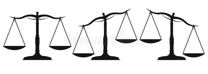 Skalen und Gewicht lizenzfreie abbildung