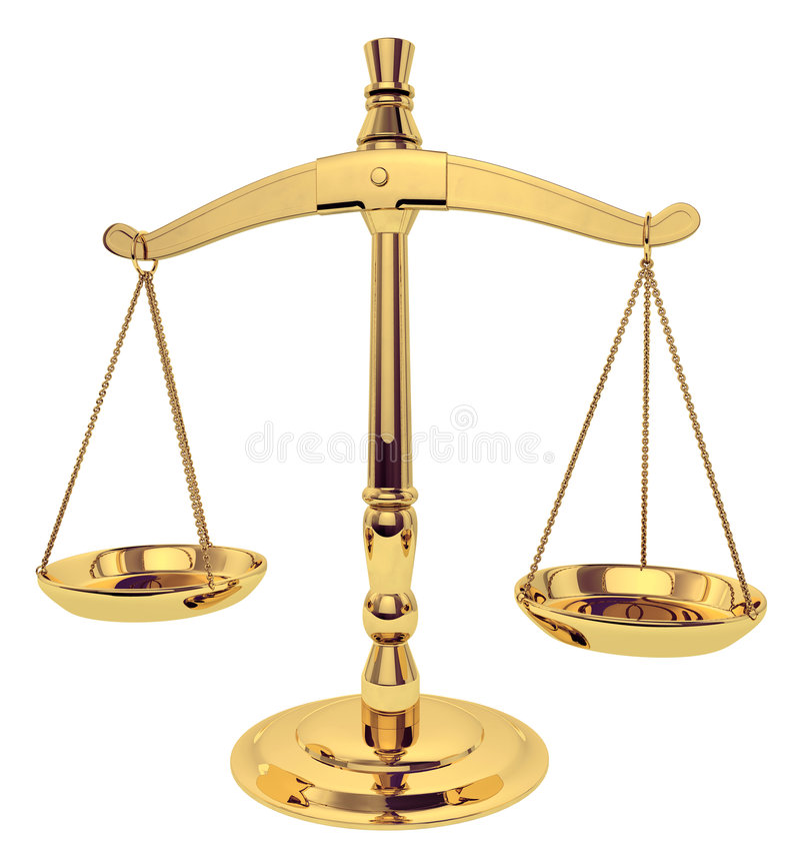 Skalen von Gerechtigkeit lizenzfreie abbildung