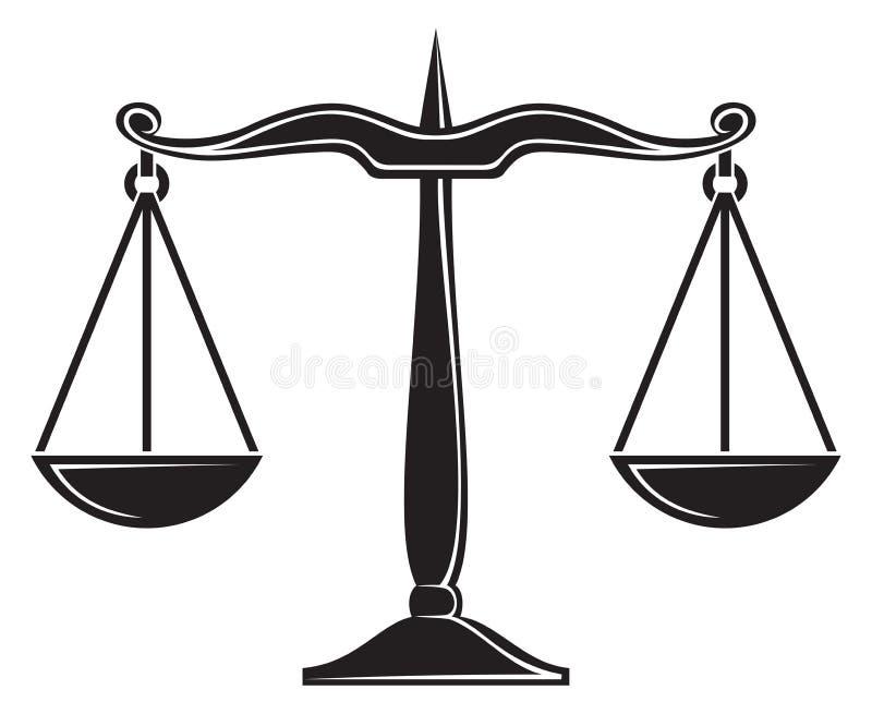 Skalen von Gerechtigkeit vektor abbildung
