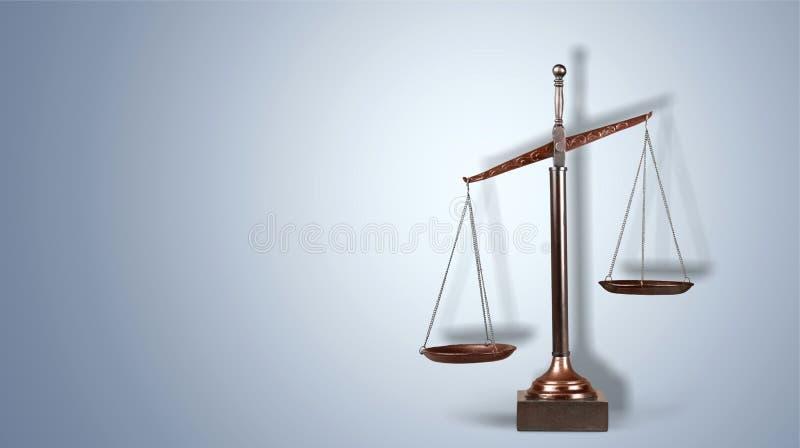 Skalen von Gerechtigkeit lizenzfreie stockfotografie